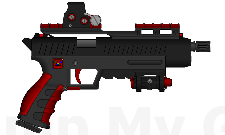D.I.I. D510-M 'Hawk' .45cal Pistol by Lord-DracoDraconis