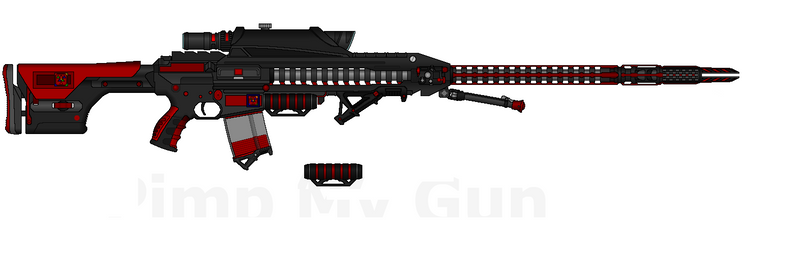 D.I.I. HVRSR-180 'Oblivion' HV Rail Sabot Rifle