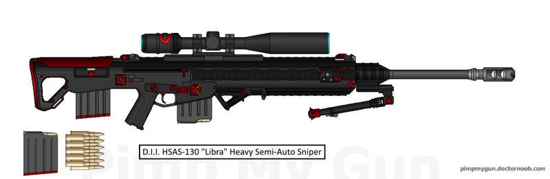 D.I.I. BHSAS-135 'Libris' Heavy Semi-Auto Sniper