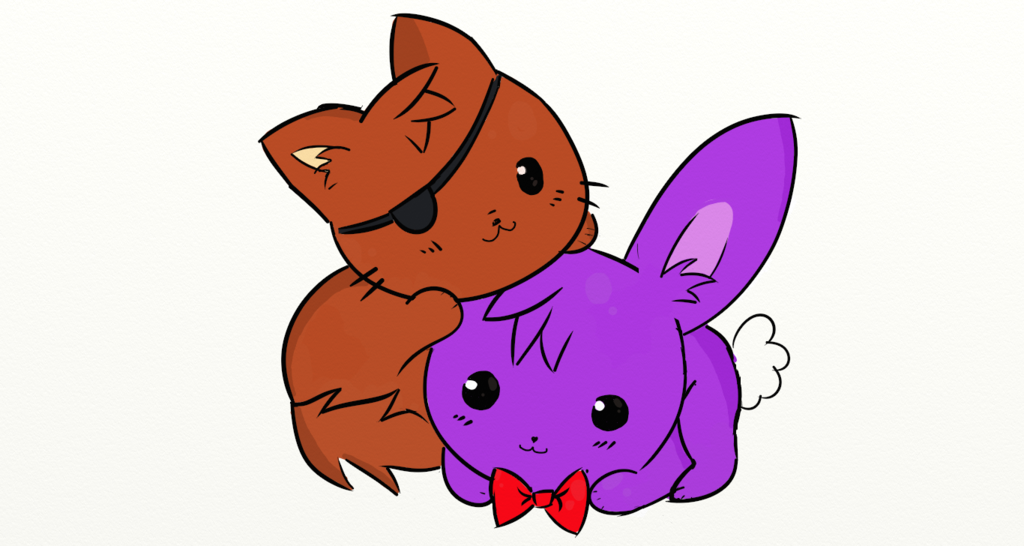 Cute foxy and bonnie by infera27 on deviantart - Fnaf cute pictures ...