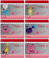 Some Poke-themed valentines cards