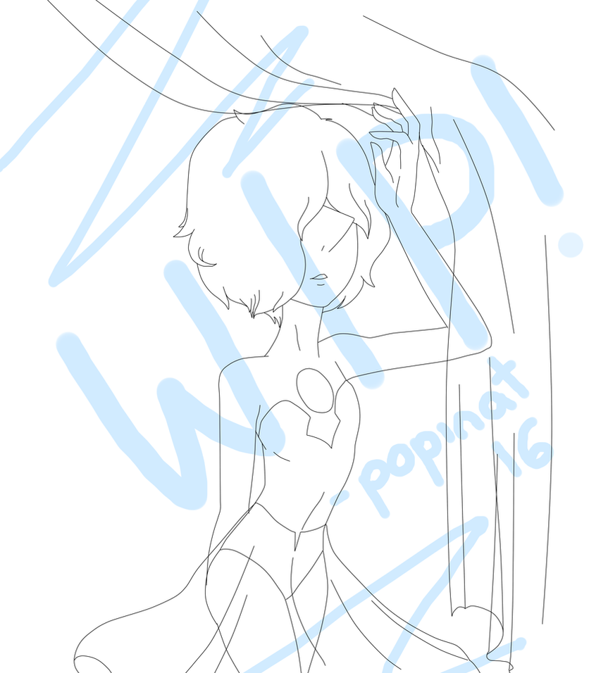 Blue Pearl WIP by popinat