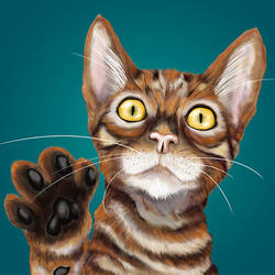 Frodo the Toyger Finished