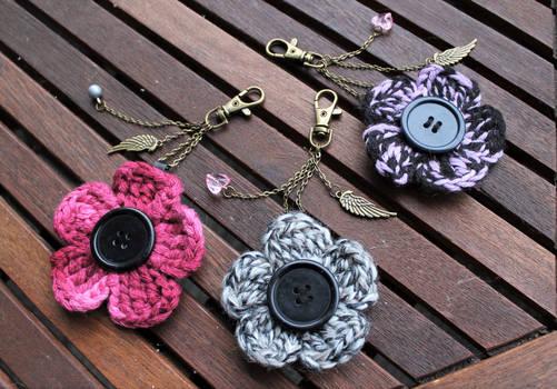 Crochet Flower Keychains