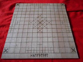 Viking HNEFATAFL board