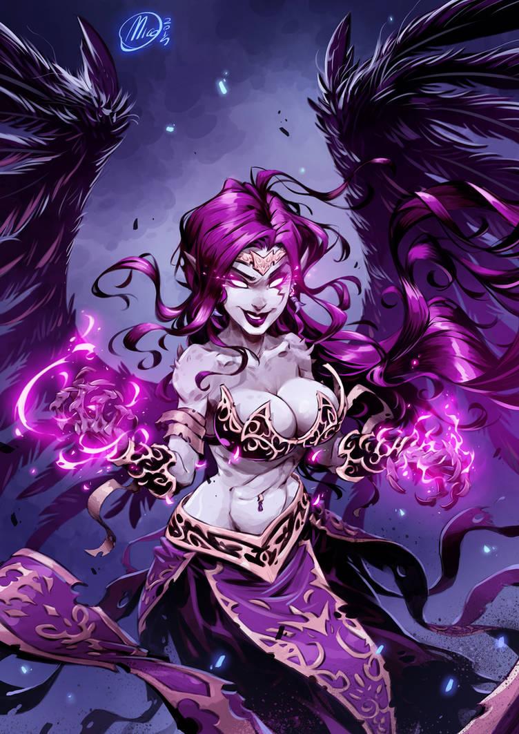 League of Legends-Morgana fanArt by Nicolasaviori