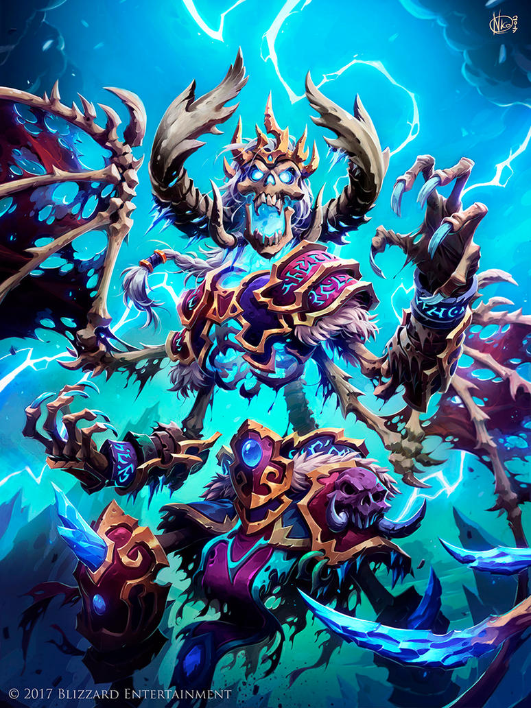 Wiched Skeleton from Hearthstone KotFT by Nicolasaviori