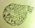 Targaryen Stark Tattoo Design