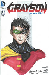 Grayson #1 Sketch Cover by GuanlinChen