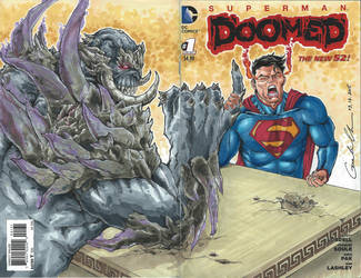 Superman Doomed #1 Sketch Cover by GuanlinChen