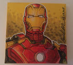 Iron Man Mark 43 Post-it Note Sketch