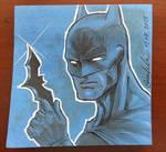 Batman Post-it Note Illustration