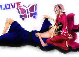 Sakura 'n Sasuke e-moments by kirakam