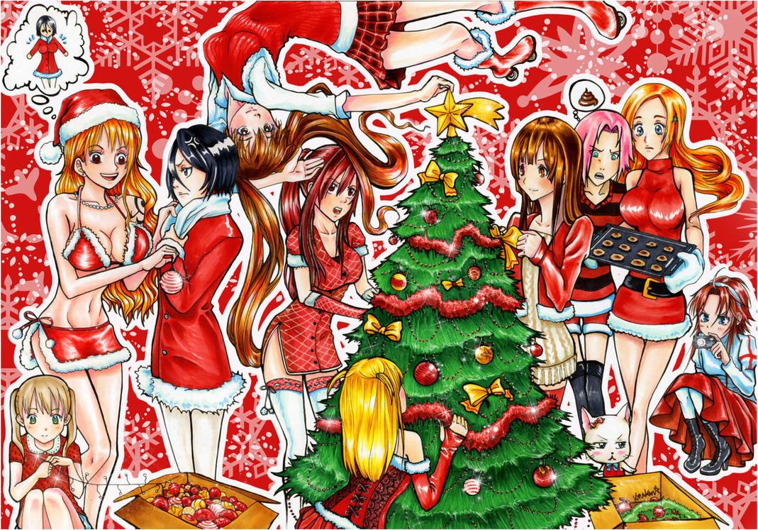 Merry Xmas To All Manga Lovers by kirakam