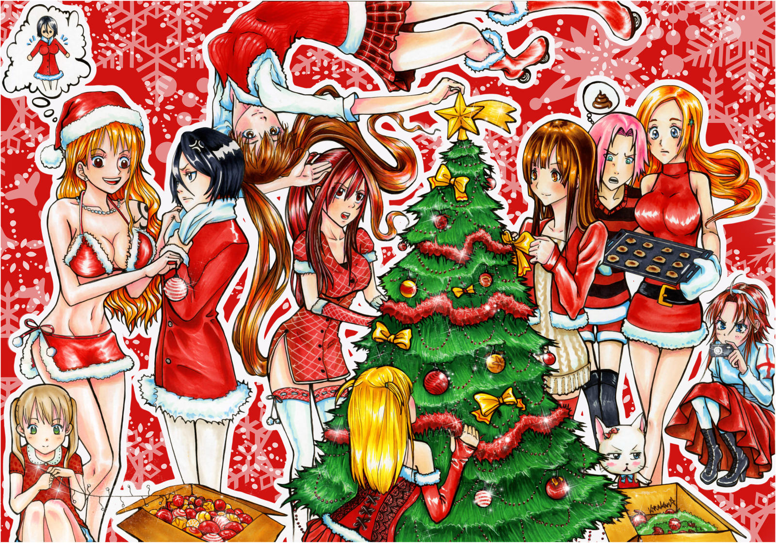 Merry Xmas To All Manga Lovers by kirakam