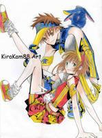 Sakura and Sayoran by kirakam