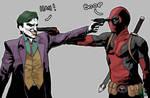 Deadpool VS Joker by SuperJV
