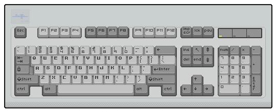 Pixel Art Keyboard by darokin