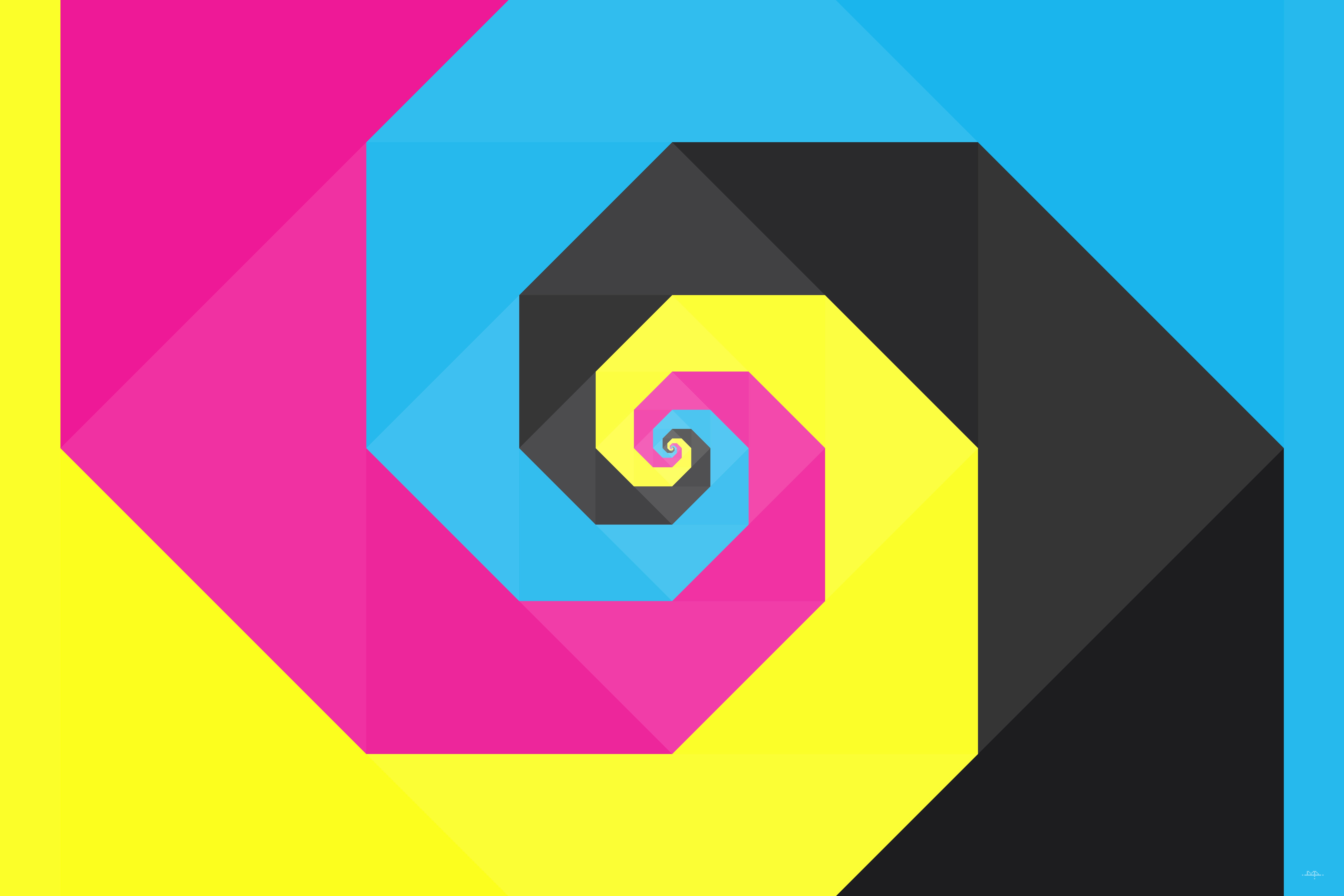 CMYK spiral v2 by darokin on DeviantArt: darokin.deviantart.com/art/CMYK-spiral-v2-369881910
