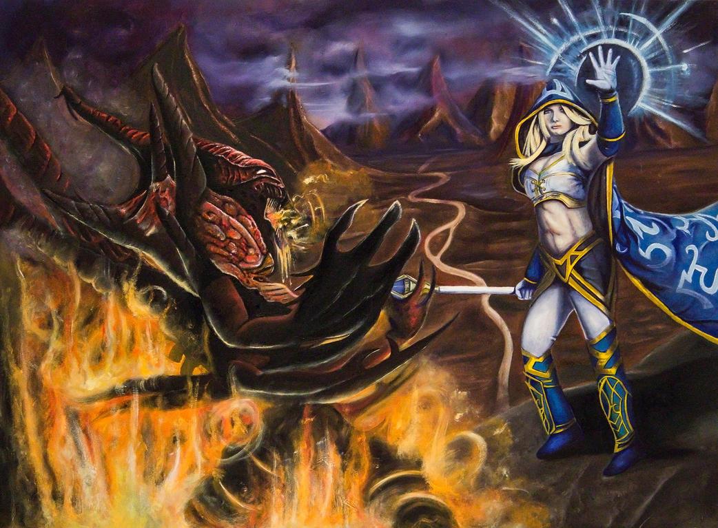 Diablo Vs Jaina Oil Painting by ImmortalZod