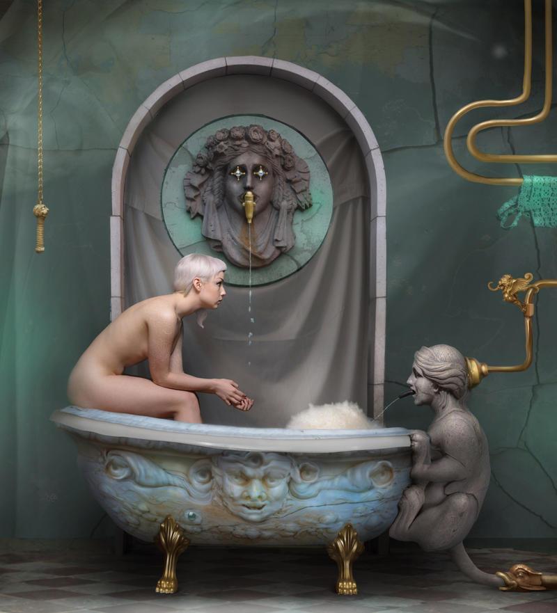Bathroom by NateKaranlit