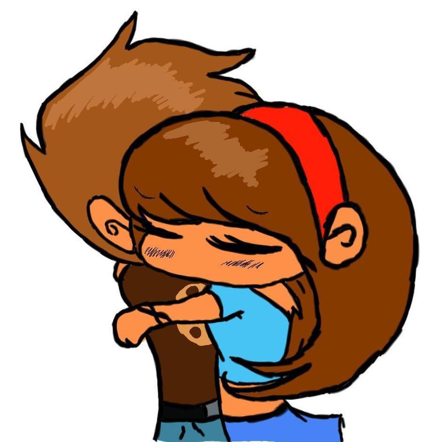 Chibis hugging - photo#20