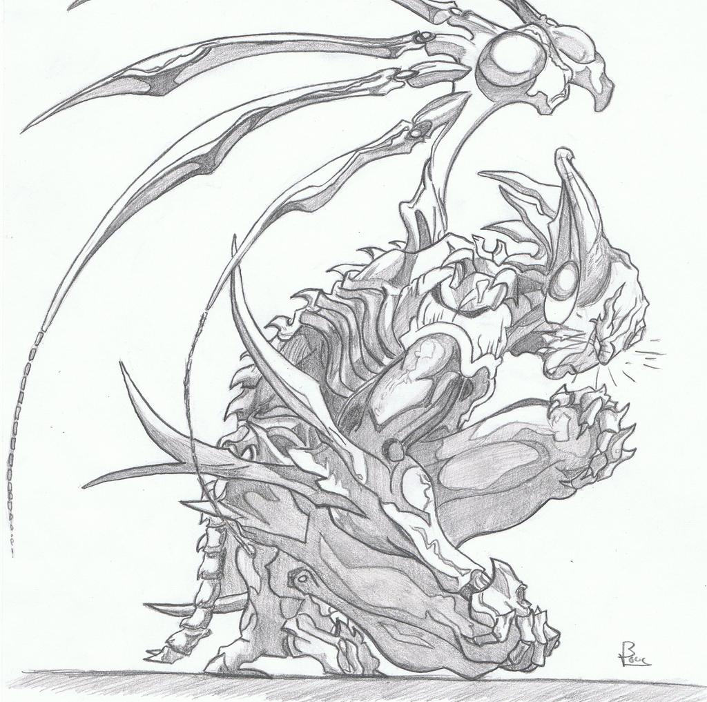 Dessin 47 xenos armor by vince3001 on deviantart - Dessin ange demon ...