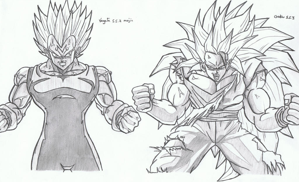 Dessin 118 Super Saiyans 2-3 By Vince3001 On DeviantArt