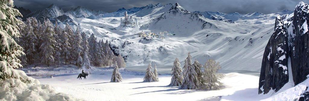 Winter Matte Painting by Zenshouse