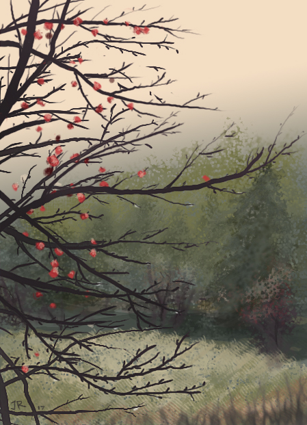 Apple tree speed painting by Zenshouse