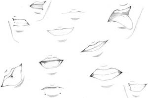 MOUTH EXPRESSIONS by Xenophiel
