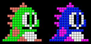 Tetris Bub and Bob Sprite
