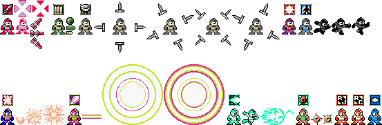 *SPOILERS* Megaman Unlimited - Weapons by mike1967-now