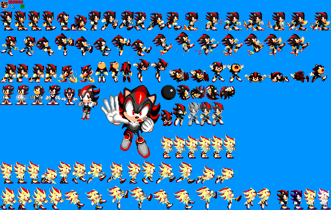 Sonic 1 Megamix V4 0 Shadow The Hedgehog By Mike1967 Now