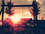 watching sunset -vintage effect-