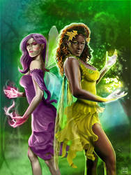 Fairies of the Forest by miqueias