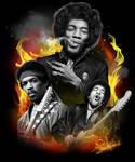 Jimi Hendrix Tshirt Illustration