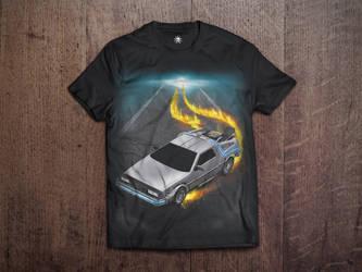 Delorean MockUp Tshirt