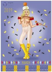 Agnieszka Calendar March by simpleguyart