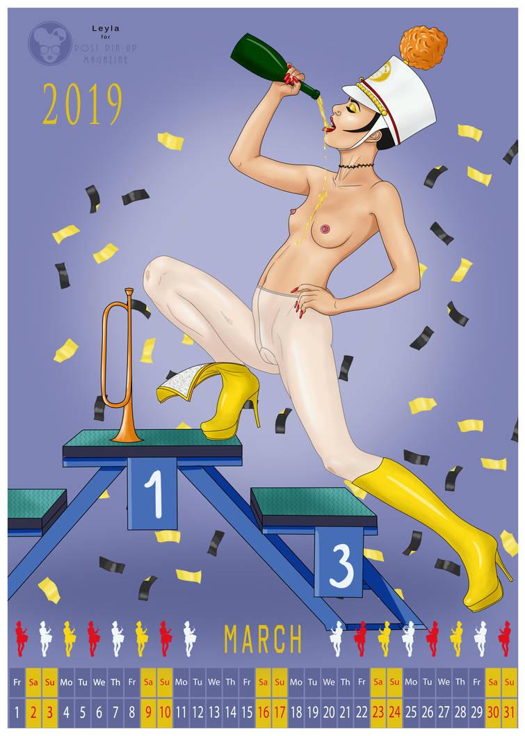 Leyla Calendar March by simpleguyart