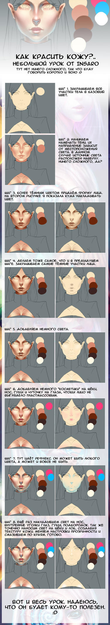 Face coloring tutorial by Insaro by Insaro
