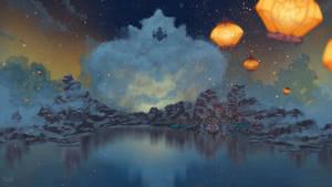 Genshin Night sky