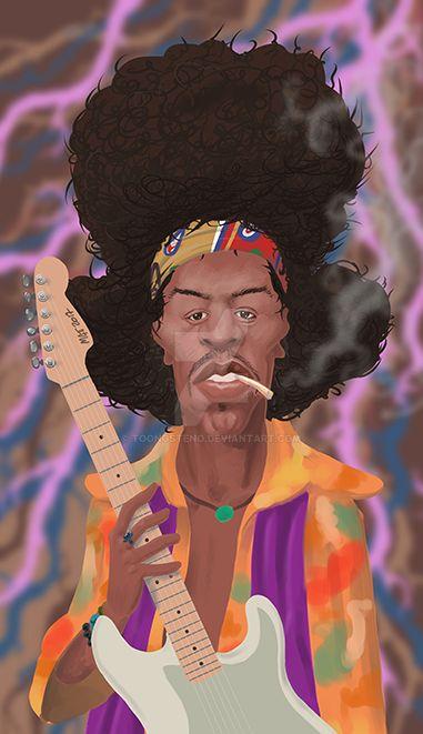 Jimi Hendrix by toongsteno