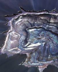 Metal Geode Sculpture detail by jeremymaronpot
