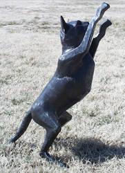 Steel Cat Sculpture by jeremymaronpot