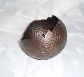Repousse Metal Bowl 2 by jeremymaronpot
