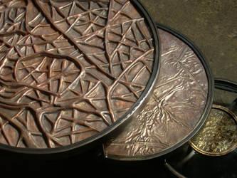 Metal Coffee Table detail by jeremymaronpot