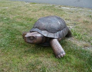 Copper Tortoise Sculpture 3 by jeremymaronpot