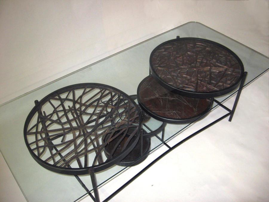Metal coffee table by jeremymaronpot