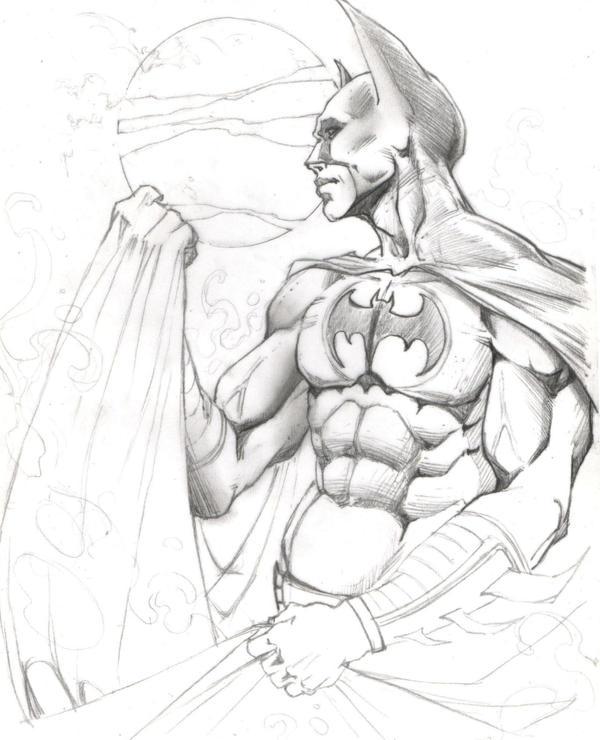 batman second drawing by maximilianart on deviantart
